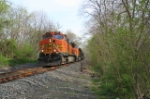 BNSF 4114 H76 loaded coal