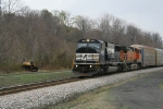 11J w BNSF power trailing