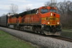 NS 212 with a pair of BNSF Units