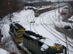 Reading and Northern passing through Canadian Pacific Yard
