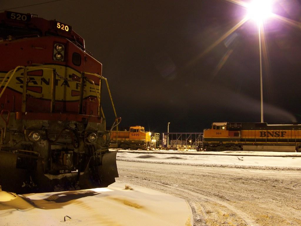 Locomotives in the BNSF North La Crosse yard