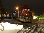 CP 580's power ties up in the La Crosse yard