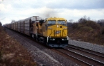 CNW 8614 powers TV202 at Wortendyke Rd on Conrail's Water Level route