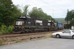 Consecutively numbered SD60s lead a Southbound NS train through Jim Thorpe,PA