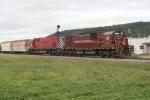WNYP train MEHN has just crossed the diamond at Olean,NY