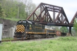 DFT-29 oddly heads over the old Southern Tier and under the BPRR bridge.