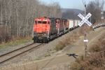 M636 #637 leads DFT passed a rural grade crossing