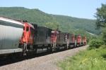 Six 6-Axle Alco products lead OL-3 North near CP Liberty