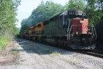 460, still in its SP paint, leads 2 other SD45's on Southbound SIJB