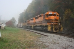 SIJB heads out of the fog at Carrollton,NY