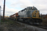 Ex-KCS #3302 leads SIJB through Limestone,NY