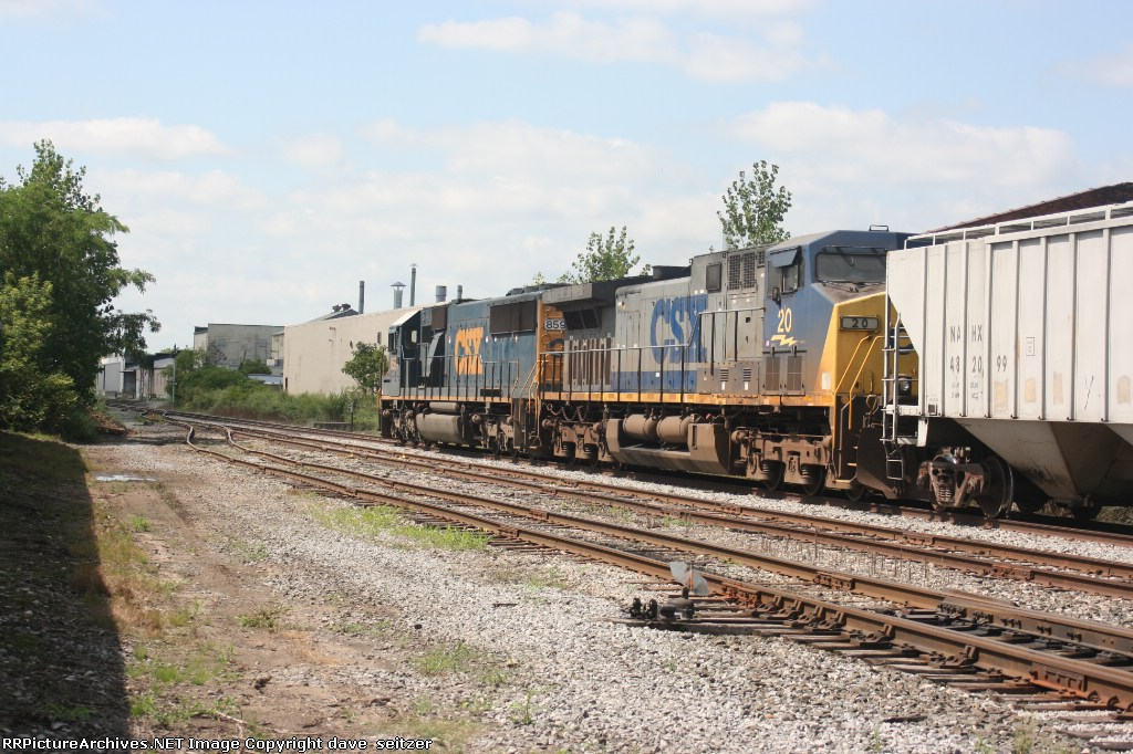 An empty corn train heads East on the Falls Road