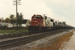 Westbound unit sulfur train behind one unit
