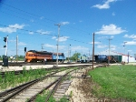 Locomotives Parked at Barn 2