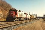 Westbound grain train enters Hoffman