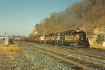 Eastbound ballast train rolls through Hoffman
