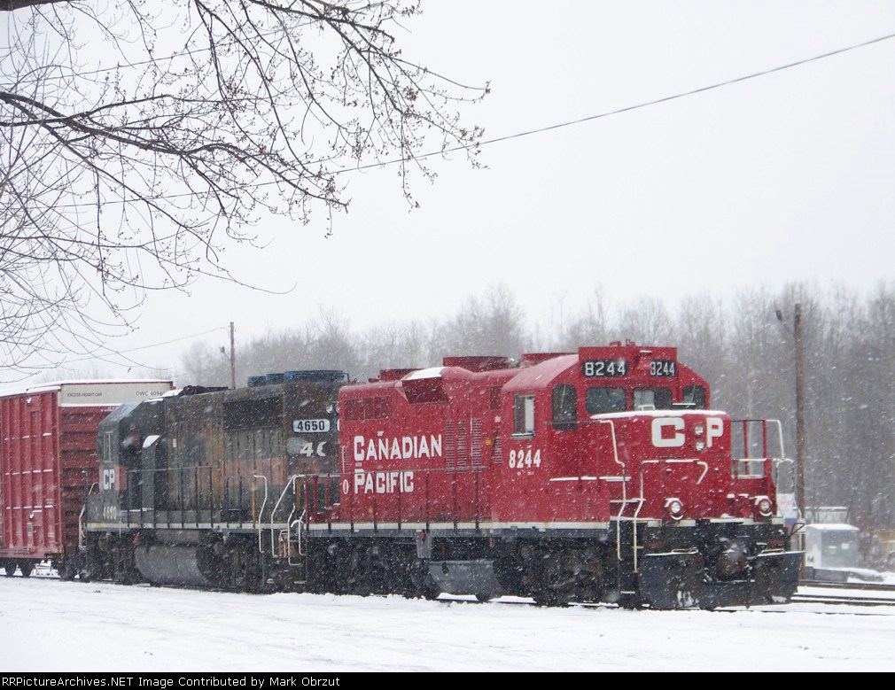 Canadian Pacific 8244 and 4650