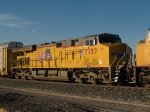 UP 7757 #3 power in an EB doublestack ILADU-18 at 4:21pm