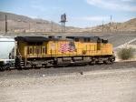 UP 6050 rear DPU in a WB grain train at 2:07pm