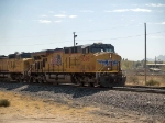 UP 5309 leads a WB doublestack at 12:18pm