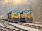 Same Power, Same Direction, Both Loaded Coal Trains
