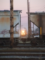 CSX 1100 returning to yard after switching duties