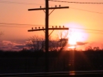 Sunset on BNSF