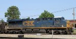CSX 715 pushes on the rear of train N425-14