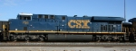 CSX 758 sits with other GE's in the yard