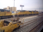 UP engines sit idle at Intermodal yard near Chicago Union Staion