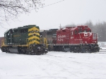 Reading and Northern 3055 and Canadian Pacific 8244