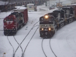 Canadian Pacific 8244 and Norfolk Southern 9090