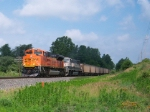 A BNSF SD70ACe and a SD70MAC Rolling Through The Beautiful Indiana Countryside