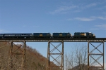"CSX 8469 leads the Southbound ""Santa Train"" at Copper Creek"