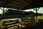 My son Will watching Q028 at the city park