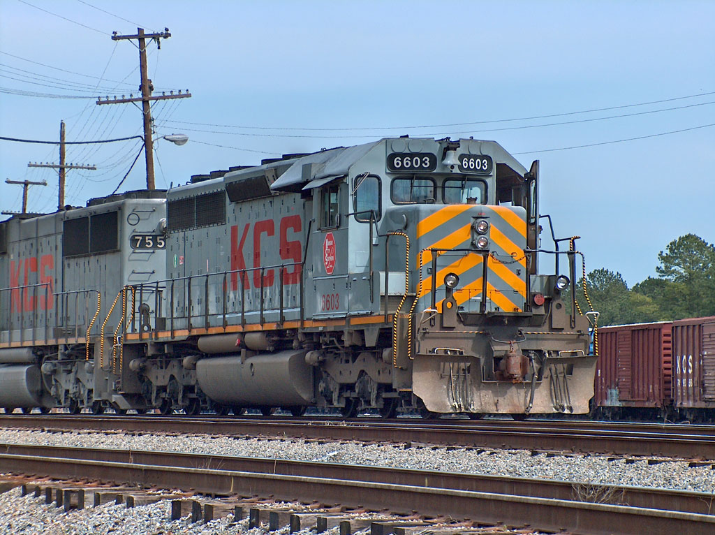 KCS 6603 at the lead of a train in NS's E. Norris Yard in Irondale, AL.