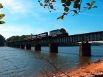 NS 67G Over The Lake Martin Trestle