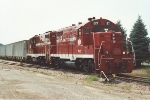 Parked gravel train