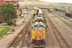 Westbound unit soda ash train departs