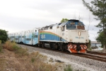 TRCX 808 southbound with train #P633 at Powerhouse Rd.