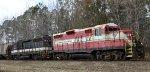 CALA 950 & 2613 hold down a train