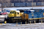 Old meets new as NYS&W 3012 sits next to CSX 947