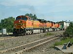 BNSF 5327 leads this WB intermodal