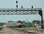 Another Heritage corridor train arrives