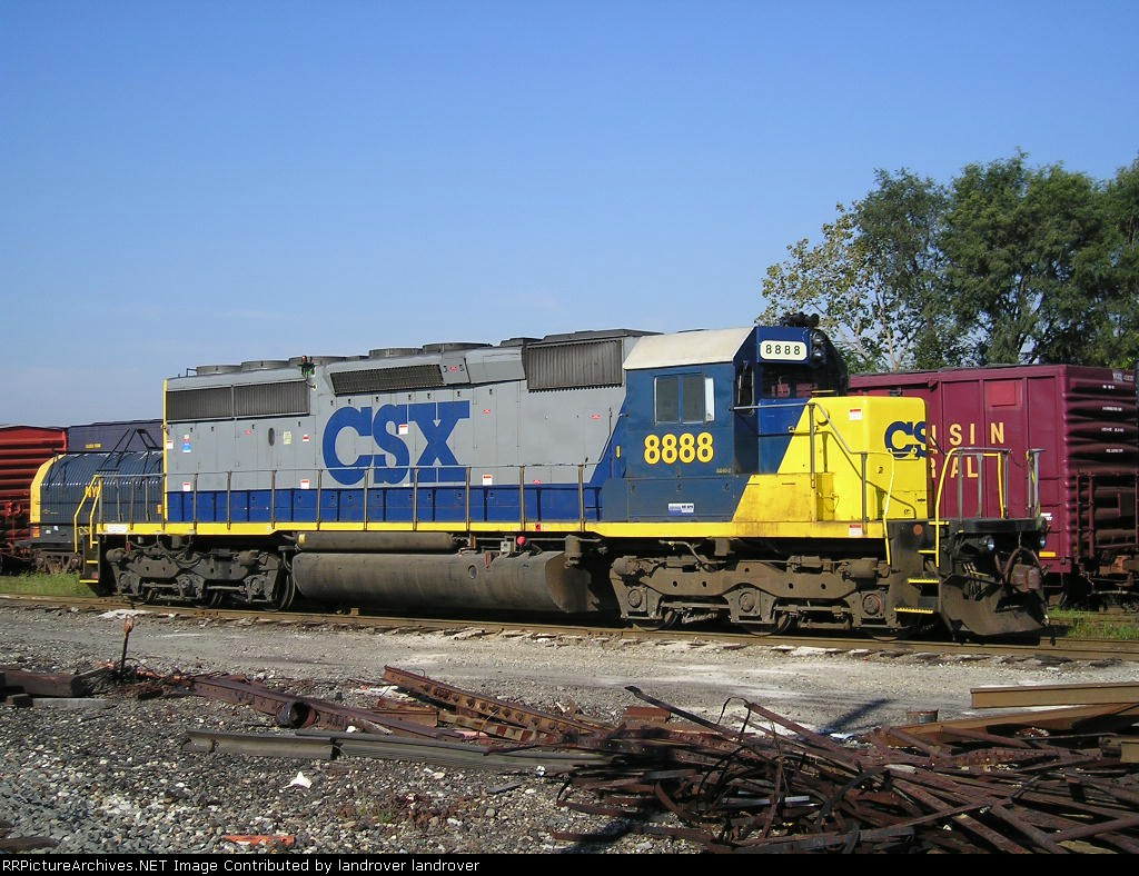 CSXT 8888 At New River Yard