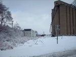 Former Purina Mill looking towards the NS main