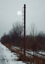 Old Erie signal pole