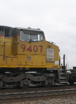 UP 9407's Nose Plaque