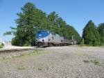 AMTK 86 No80 passes over ChurchSt in Morrisville