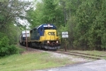 CSX 2772 in South Durham departs the Few DTC block